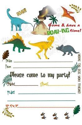 dinosaurs children s blank party invites invitations t rex ebay