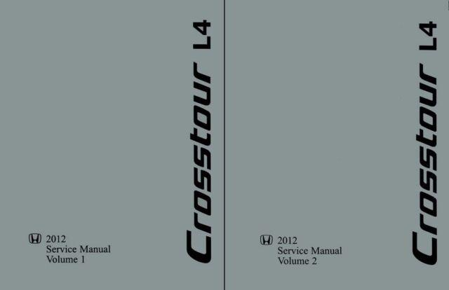 2012 Honda Crosstour 4 Cylinder Shop Service Repair Manual
