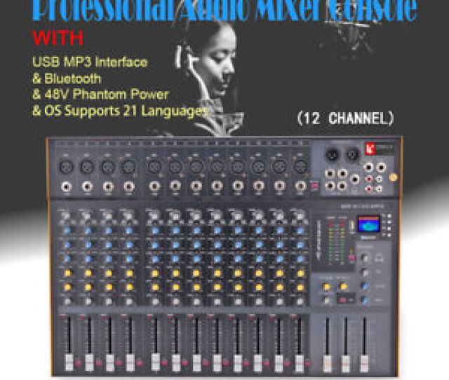 Image Is Loading 12 Channel Professional Stereo Mixer Audio Mixing Console