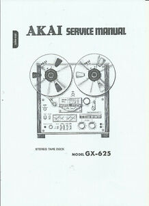 AKAI GX-625 STEREO TAPE DECK SERVICE MANUAL ON USB 76