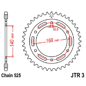 For 2011 BMW F650GS Street Motorcycle JT Sprockets JTR3.47