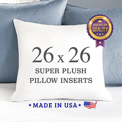 26x26 pillow inserts stuffing down alternative square pillows made in usa euro ebay