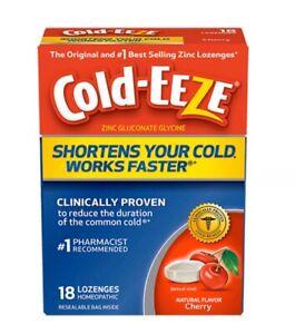 Cold-Eeze Zinc Lozenges Cough Drops Natural Flavor Cherry ...