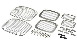 Billet & Wire Mesh Light Guards Polished Stainless Steel