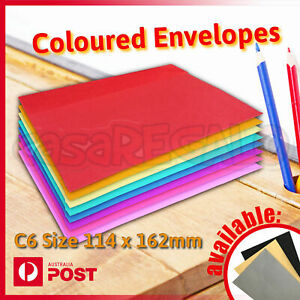 Details About Coloured Envelopes Party Wedding Invitation Red Blue Green Or Yellow C6 25pcs