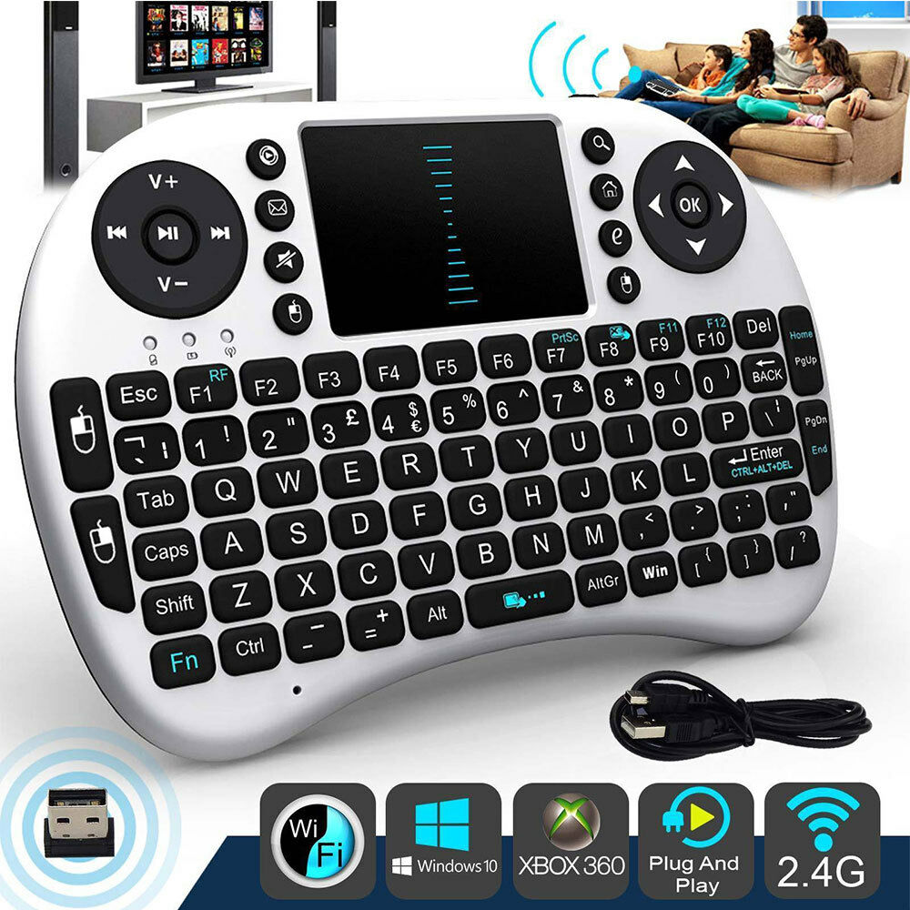 i8 Mini Bluetooth Funk Tastatur Touchpad Wireless Keyboard für TV Android DE