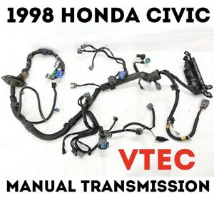 1998 Honda Civic HX Engine Wire Harness VTEC OBD2 Manual
