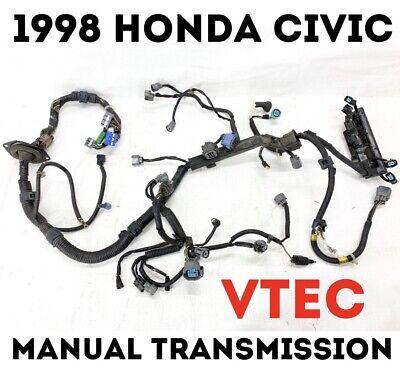 1998 Honda Civic HX Engine Wire Harness VTEC OBD2 Manual