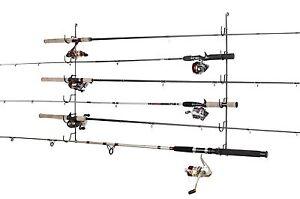 Fishing Rod Rack Pole Holder Storage Organize Horizontal
