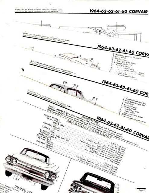 1960 1961 1962 1963 1964 CORVAIR BODY PARTS FRAME MOTORS
