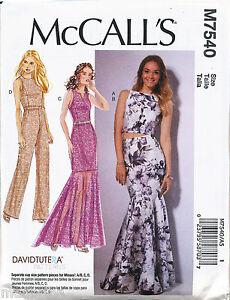 Mermaid Skirt Pattern : mermaid, skirt, pattern, MCCALLS, SEWING, PATTERN, MISSES, 14-22, DRESS, MERMAID, SKIRT,, JUMPSUIT
