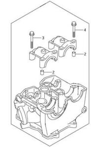 Suzuki OEM Cylinder Head 2004 RMZ250 RMZ 250 RM-Z250 K1100