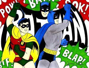 POP ART BATMAN # 2 ORIGINAL COMIC ART BY COMIC BOOK ARTIST JAMES CHEN