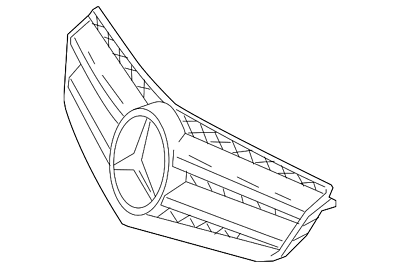 Genuine Mercedes-Benz Grille Assembly 207-880-32-83-9982