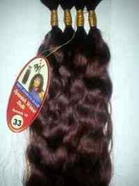 "100 % HUMAN HAIR SPANISH WAVE BULK 16"";BEVERLY JOHNSON ..."