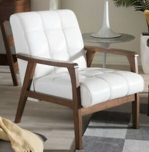 armchairs for living room ikea ideas mid century white leather club chair accent arm chairs details about new