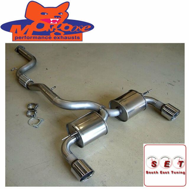 ford focus exhaust 3 inch mongoose section 59 system flex st 225 mk2 2005 2010