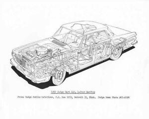 1962 Dodge Dart 440 4-Door Hardtop Illustrative Cutaway