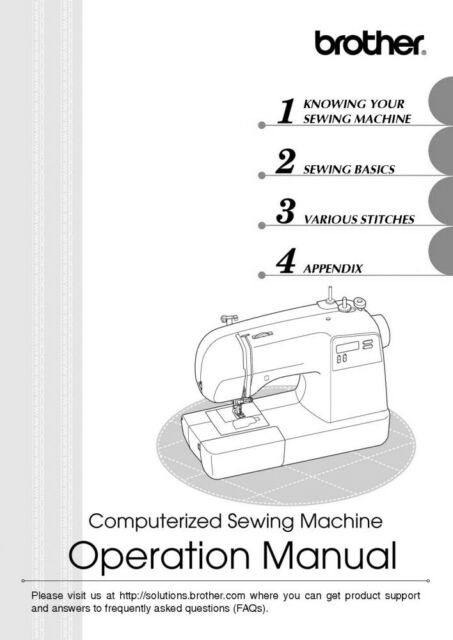 Brother HS-3000 Sewing Machine Owners Instruction Manual