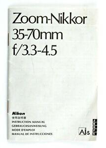 197085 Nikon AiS Zoom-Nikkor 35-70mm f/3.3-4.5 Original