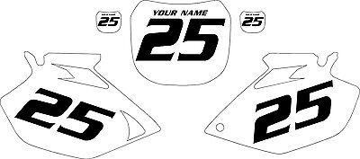 2003-2005 Yamaha YZF250 Custom Pre-Printed White