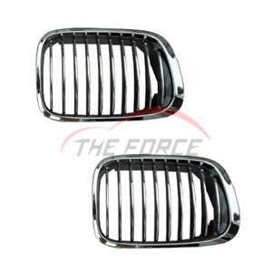 2x Chrome Front Grill Grille For 98-01 BMW 3 Series E46