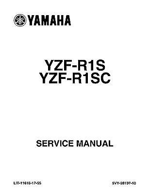 Yamaha service workshop manual 2004 YZF-R1 YZF-R1S / YZF