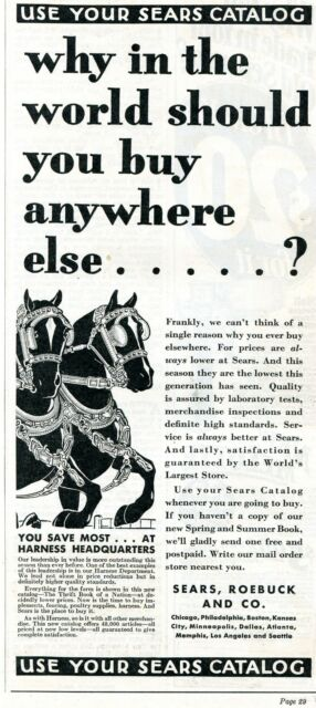 1931 Sears Roebuck And Co. Horse Harness Headquarters