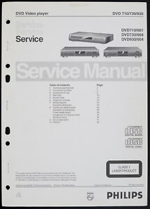 Philips DVD710/730/930 Original DVD Player Service Manual