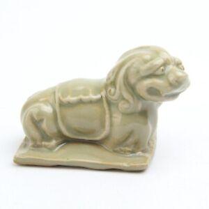Antique Chinese Porcelain Lion Statue