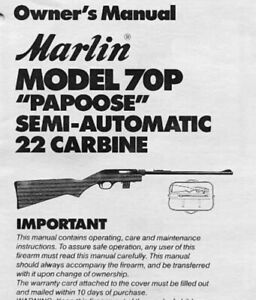 Marlin Model 70P Instruction Manual With Free DVD Gun