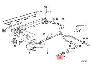 Genuine Kit For Fuel Hose And Clamp BMW E30 E34 E36 316i