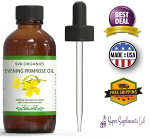 EVENING PRIMROSE OIL 4 oz Pure Therapeutic Grade For ...