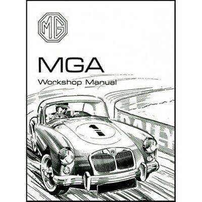 MG MGA Workshop Manual 1500 1600 1600 MK II book paper car