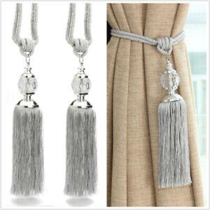 2pcs curtain holdbacks rope tie backs