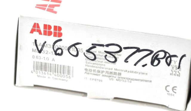 ABB MS132-1.0 Manual Motor Starter .63 to 1.0 Amp 1 or 3