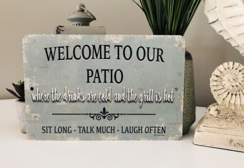 home decor metal sign home decor new welcome to our patio sign outdoor sign plaques signs