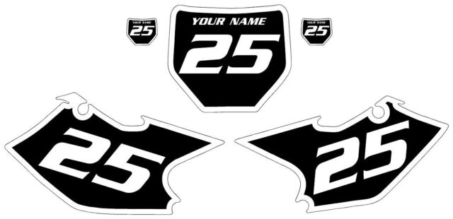 2004-2005 Kawasaki KXF250 Pre-Printed Black Backgrounds