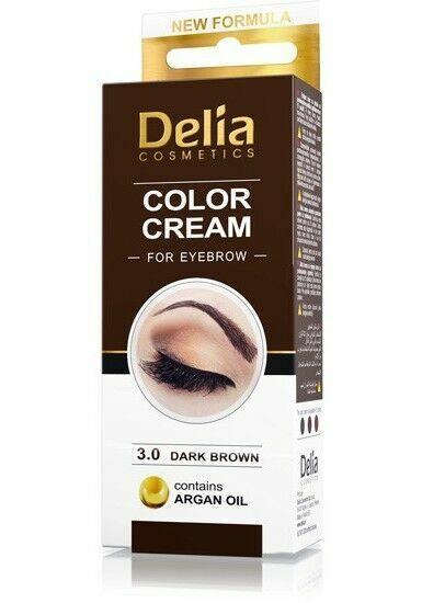 Argan Oil Eyebrows : argan, eyebrows, Delia, Henna, Cream, Eyebrow, Professional, Colour, Brown, Online