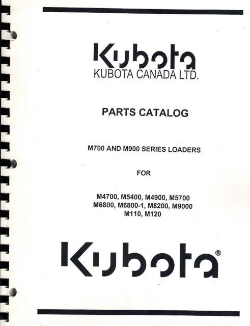 KUBOTA M700 M900 SERIES FRONT LOADERS PARTS MANUAL