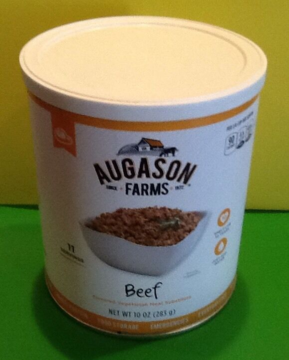 Augason Farms Beef Flavored Vegetarian EMERGENCY Food Storage Survival Prepper 2