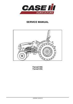 CASE IH FARMALL 45A,FARMALL 55A TRACTOR COMPLETE SERVICE