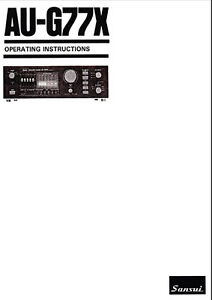 SANSUI AU-G77X OPERATING INSTRUCTIONS PRINTED BOUND ENG
