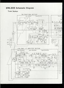 Rare Original Factory Sony STR 222 AM FM Stereo Receiver