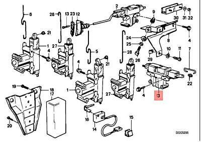 Genuine BMW M3 E23 E24 E30 316 316i 318i Actuator For