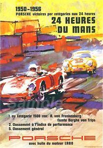details zu vintage porsche le mans 1950 s racing a2 poster print