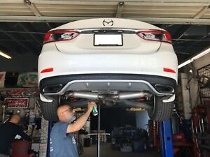 details about 2014 mazda6 rear diffuser vhtf rare 2015 2016 mazda exhaust tips