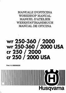 Husqvarna workshop service manual 2000 WR 250, WR 360 & CR