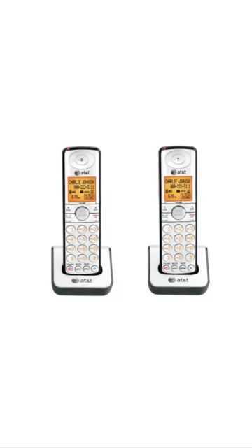 2 x AT&T CL80109 1.9GHz DECT 6.0 Cordless Handset for
