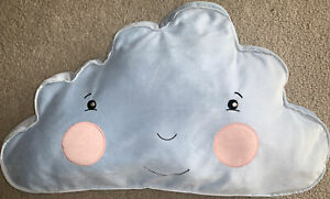 details about ikea cushion pillow blue smiling cloud accent kids children no tags